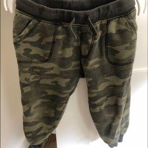 Gymboree Toddler Boy Army Sweatpants 2T